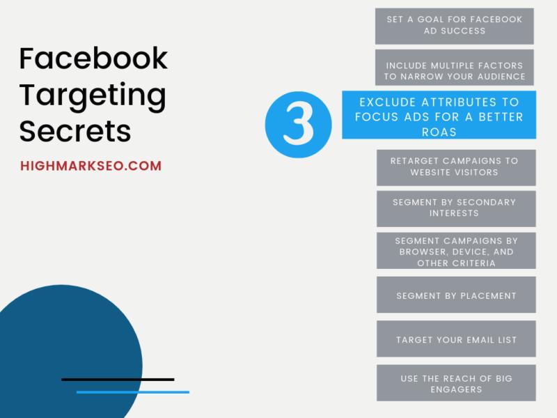 Facebook Targeting Tips: Exclude Targeting Attributes