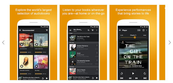 Audible Mobile App Interface
