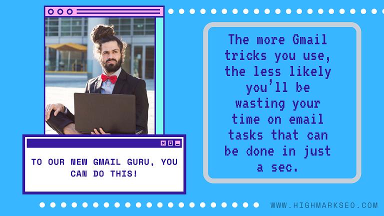 a gmail guru using his laptop