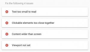 Mobile responsiveness report